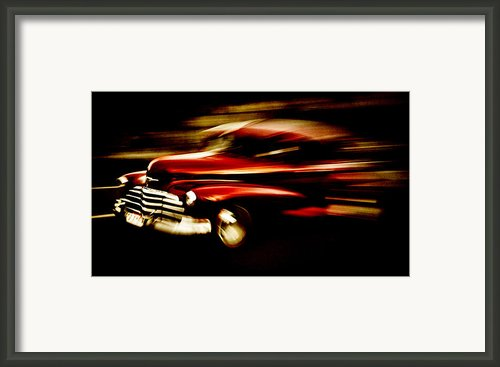 1947 Red Chevrolet Framed Print By Phil