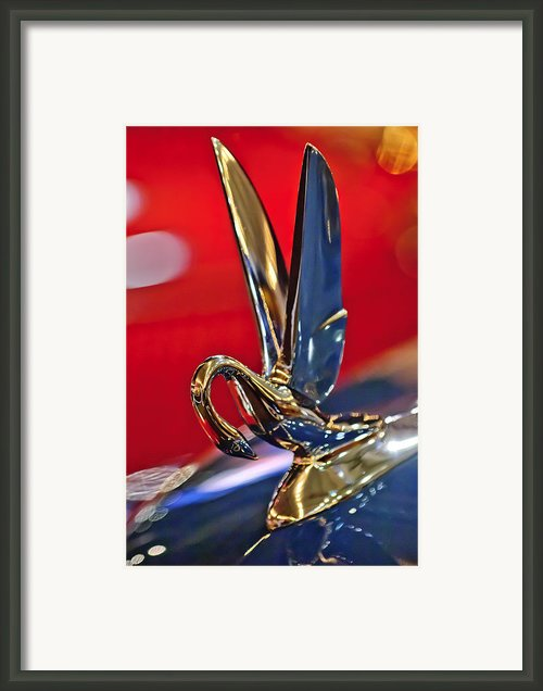 1948 Packard Hood Ornament Framed Print By Jill Reger