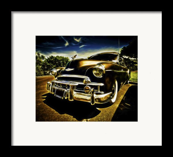 1949 Chevrolet Deluxe Coupe Framed Print By Motography Aka Phil Clark