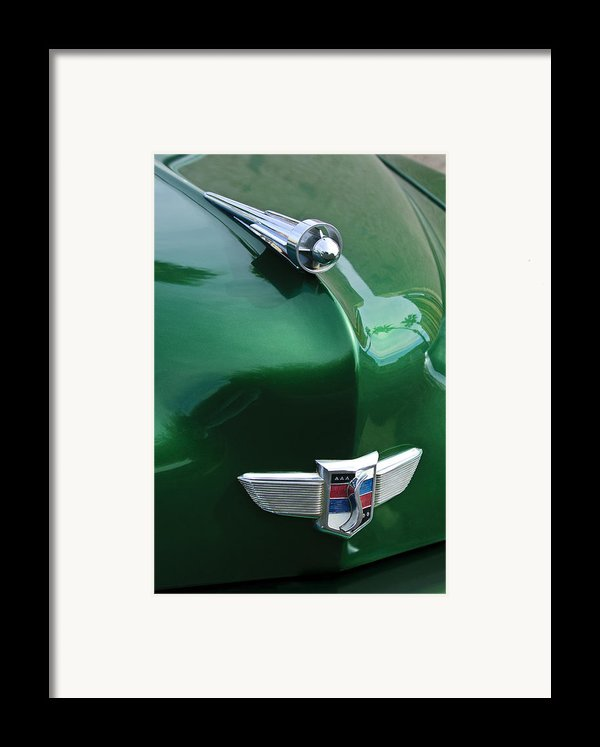 1949 Studebaker Champion Hood Ornament Framed Print By Jill Reger