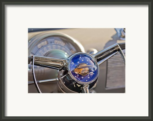 1950 Oldsmobile Rocket 88 Steering Wheel Framed Print By Jill Reger