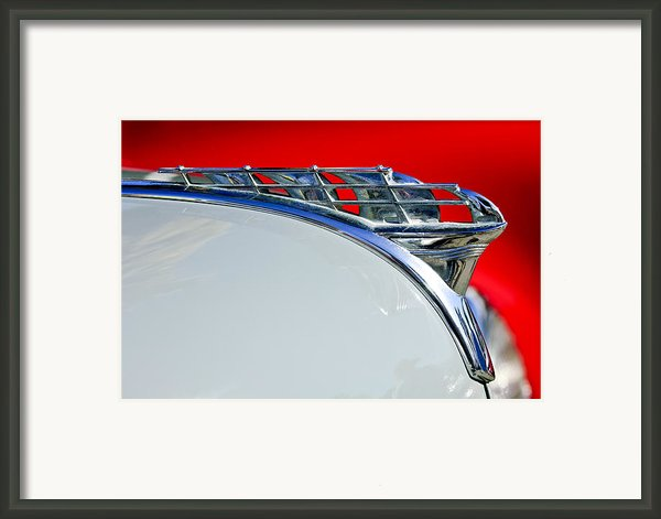 1950 Plymouth Hood Ornament 3 Framed Print By Jill Reger