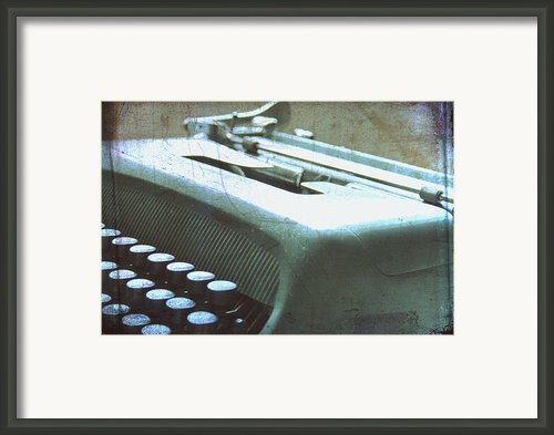 1952 Olivetti Typewriter Framed Print By Georgia Fowler