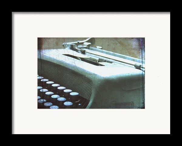1952 Olivetti Typewriter Framed Print By Nomad Art And  Design