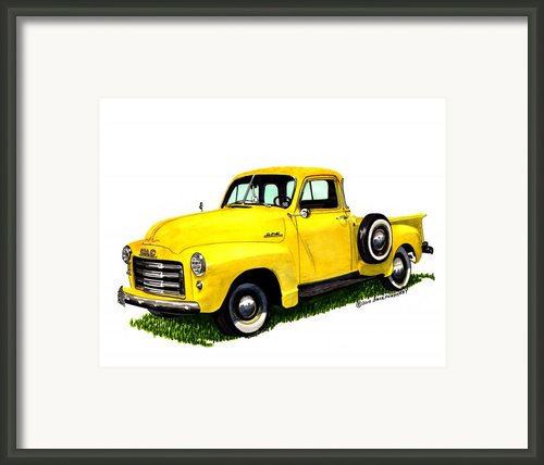 1953 G M C 5-window Pick-up Framed Print By Jack Pumphrey