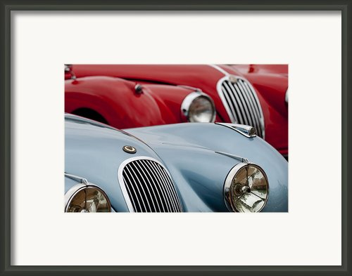 1953 Jaguar Xk120 Roadster Framed Print By Jill Reger