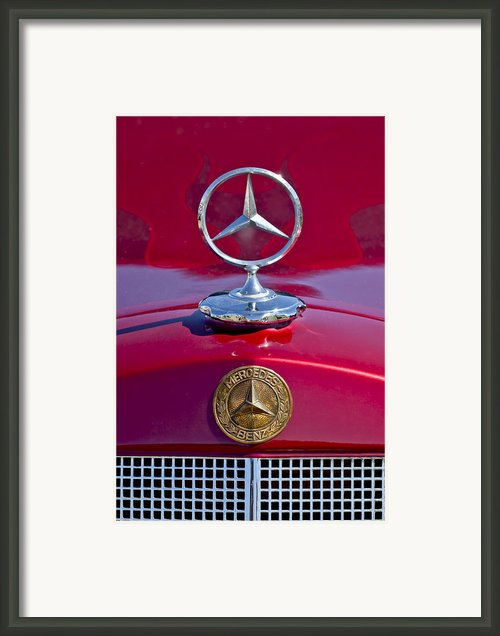 1953 Mercedes Benz Hood Ornament Framed Print By Jill Reger