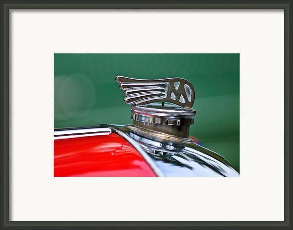 1953 Morgan Plus 4 Le Mans Tt Special Hood Ornament Framed Print By Jill Reger