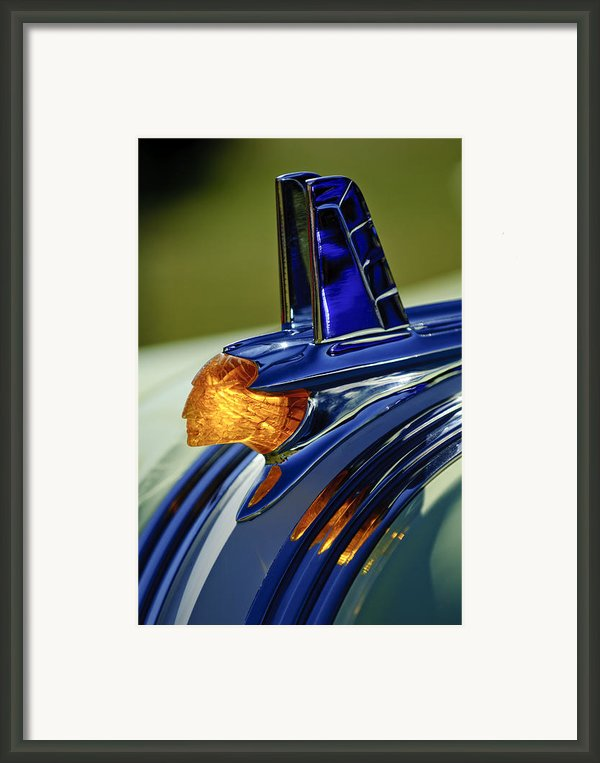 1953 Pontiac Hood Ornament 3 Framed Print By Jill Reger