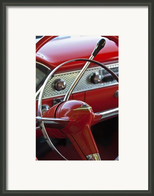 1955 Chevrolet Belair Nomad Steering Wheel Framed Print By Jill Reger