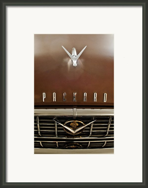 1955 Packard 400 Hood Ornament Framed Print By Jill Reger