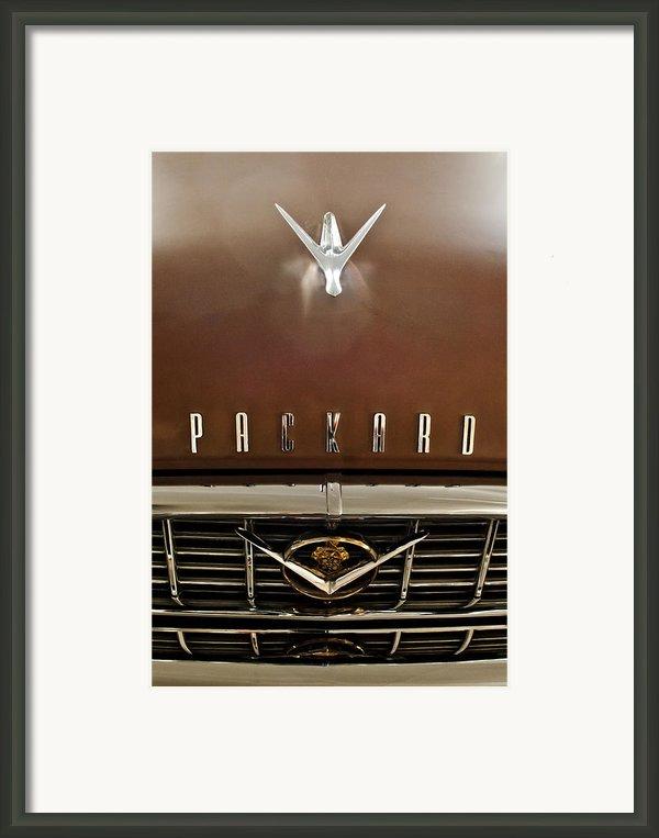 1955 Packard 400 Hood Ornament Framed Print By Jill Reger