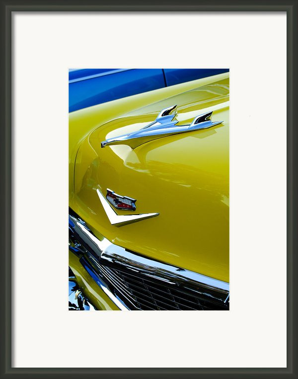1956 Chevrolet Hood Ornament 3 Framed Print By Jill Reger