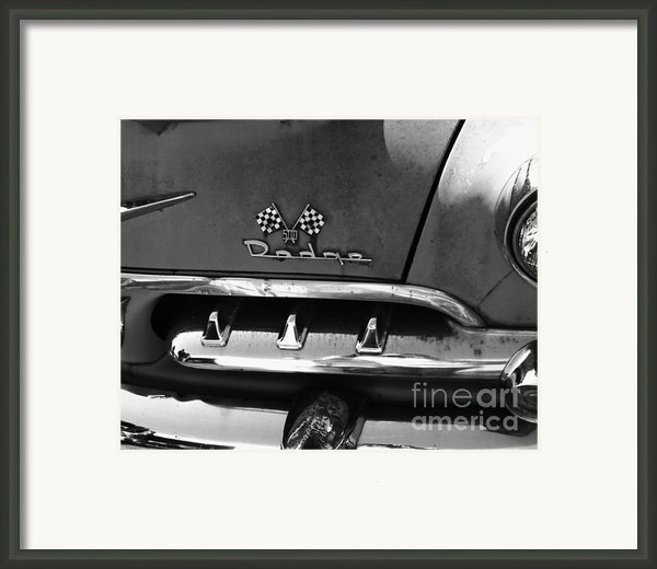 1956 Dodge 500 Series Photo 2 Framed Print By Anna Villarreal Garbis