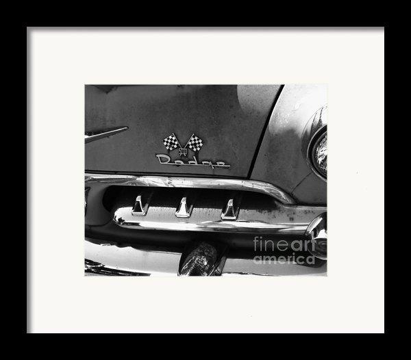1956 Dodge 500 Series Photo 2 Framed Print By Anna Villarreal Garbis