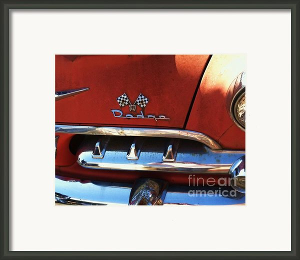 1956 Dodge 500 Series Photo 2b Framed Print By Anna Villarreal Garbis