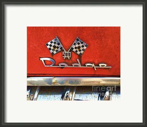 1956 Dodge 500 Series Photo 8b Framed Print By Anna Villarreal Garbis