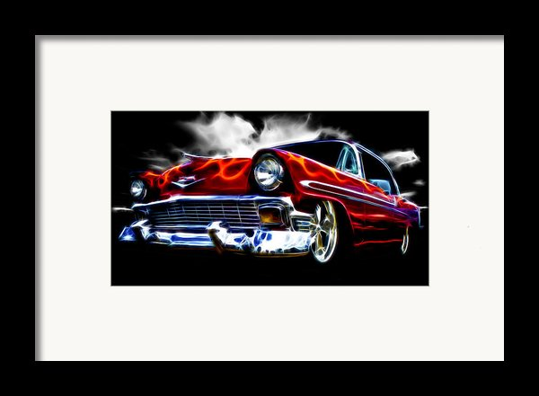 1956 Flamin Chevrolet Framed Print By Phil