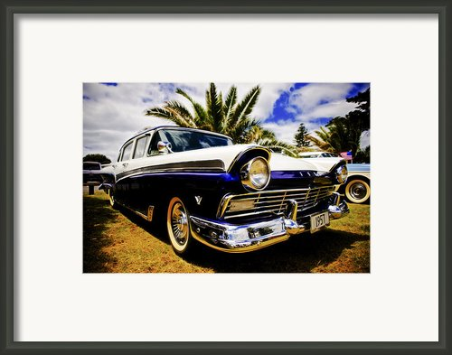 1957 Ford Custom Framed Print By Motography Aka Phil Clark