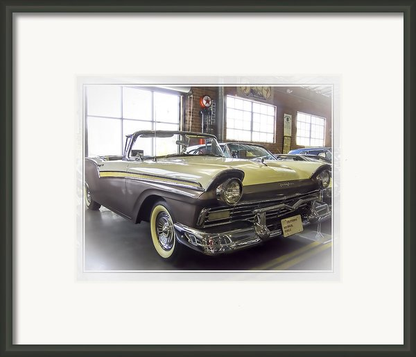 1957 Ford Fairlane Framed Print By Steve Benefiel