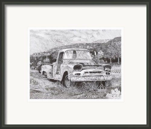 1957 Gmc Ran When Parked Framed Print By Jack Pumphrey