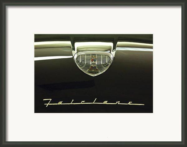 1958 Ford Fairlane 500 Victoria Hood Ornament Framed Print By Jill Reger