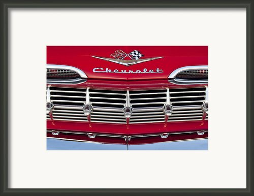 1959 Chevrolet Grille Ornament Framed Print By Jill Reger