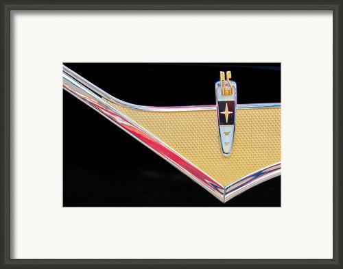 1959 Desoto Adventurer Emblem Framed Print By Jill Reger