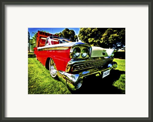 1959 Ford Fairlane 500 Skyliner Framed Print By Motography Aka Phil Clark