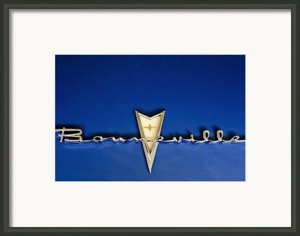 1959 Pontiac Bonneville Emblem Framed Print By Jill Reger