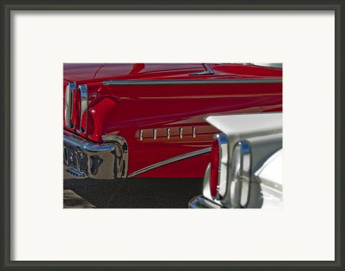 1960 Edsel Taillight Framed Print By Jill Reger
