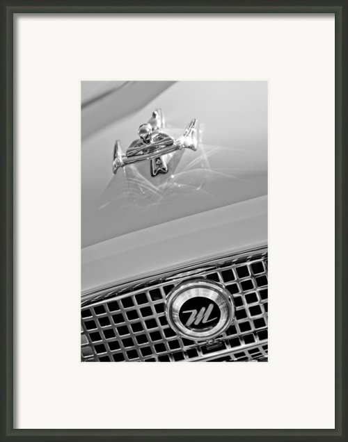 1960 Nash Metropolitan Hood Ornament Framed Print By Jill Reger
