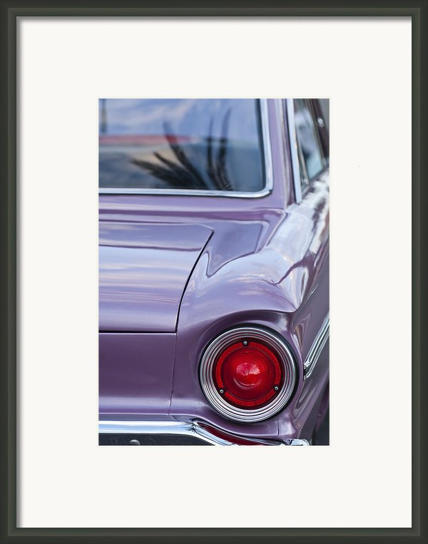 1963 Ford Falcon Tail Light Framed Print By Jill Reger