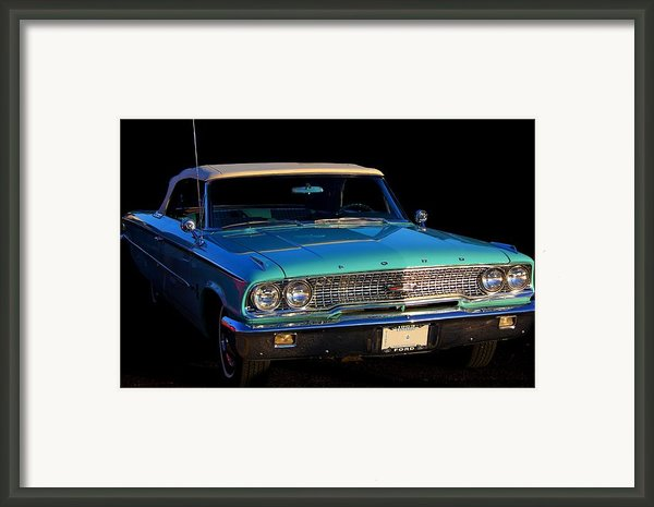 1963 Ford Galaxy Framed Print By Davandra Cribbie