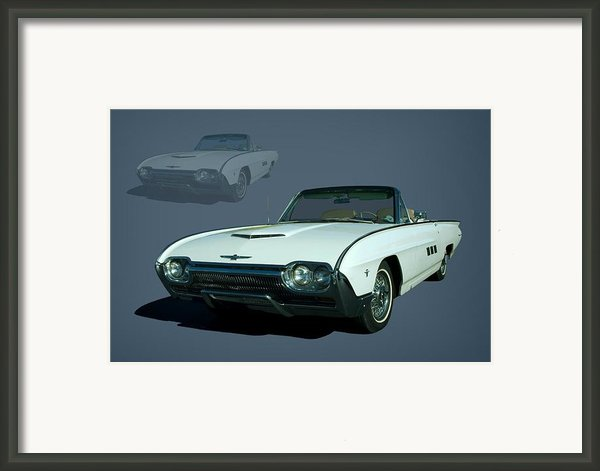 1963 Ford Thunderbird Convertible Framed Print By Tim Mccullough