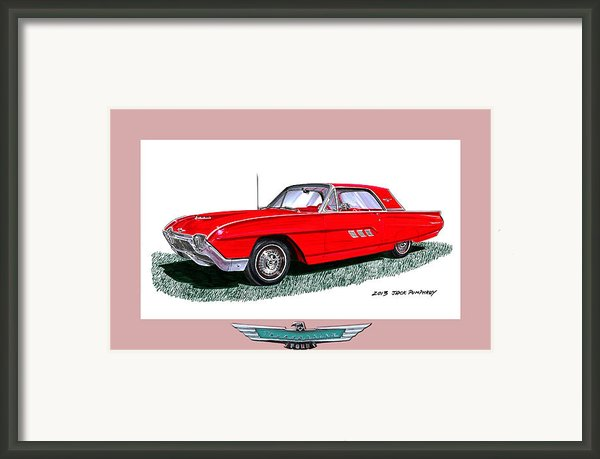 1963 Ford Thunderbird Framed Print By Jack Pumphrey