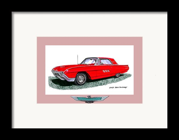 1963 Ford Thunderbird Framed Print By Jack Pumphrey
