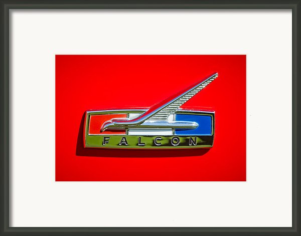1964 Ford Falcon Emblem Framed Print By Jill Reger