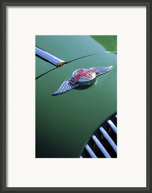 1964 Morgan 44 Hood Ornament Framed Print By Jill Reger