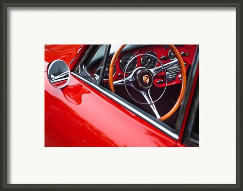 1964 Porsche 356 Carrera 2 Steering Wheel Framed Print By Jill Reger