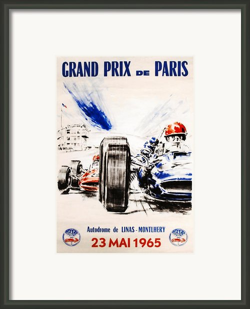 1965 Grand Prix De Paris Framed Print By Nomad Art And  Design