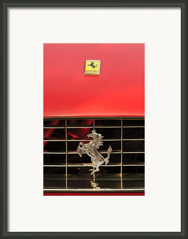 1966 Ferrari 330 Gtc Coupe Hood Ornament Framed Print By Jill Reger