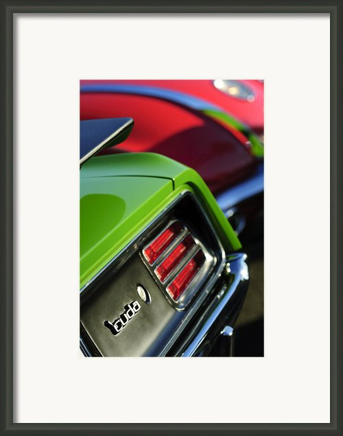 1970 Plymouth Barracuda Cuda Taillight Emblem Framed Print By Jill Reger