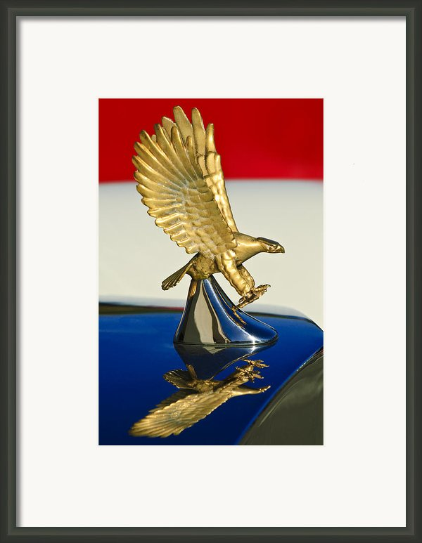 1986 Zimmer Golden Spirit Hood Ornament Framed Print By Jill Reger