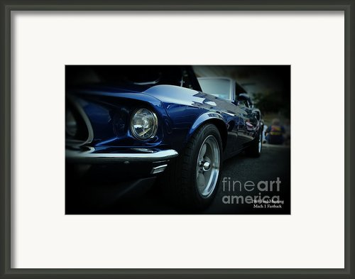 1969 Ford Mustang Mach 1 Fastback Framed Print By Paul Ward