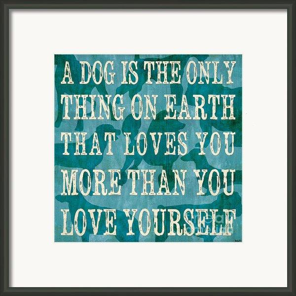 A Dog Framed Print By Debbie Dewitt