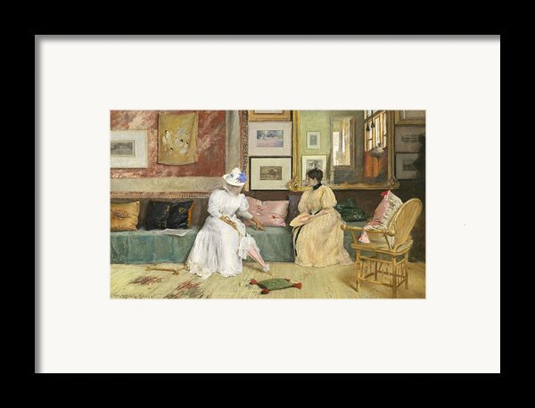 A Friendly Call Framed Print By William Merritt Chase