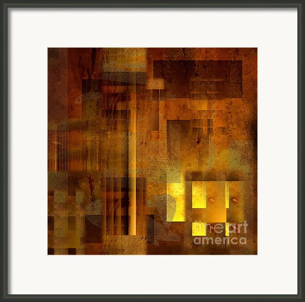 Abstract In Brown With Light  Framed Print By Sven Pfeiffer