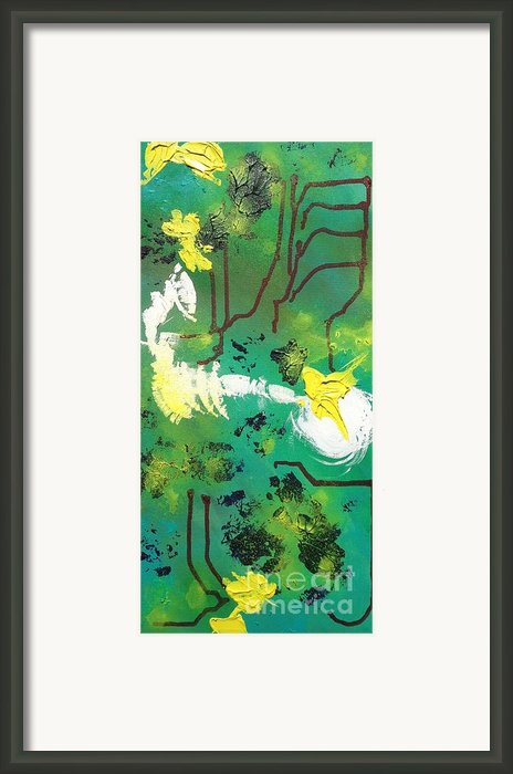 Abstract Framed Print By Kateryna Kurylo