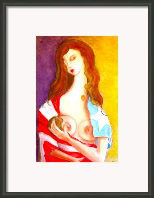 Amor Eterno Framed Print By Mayra  Martinez